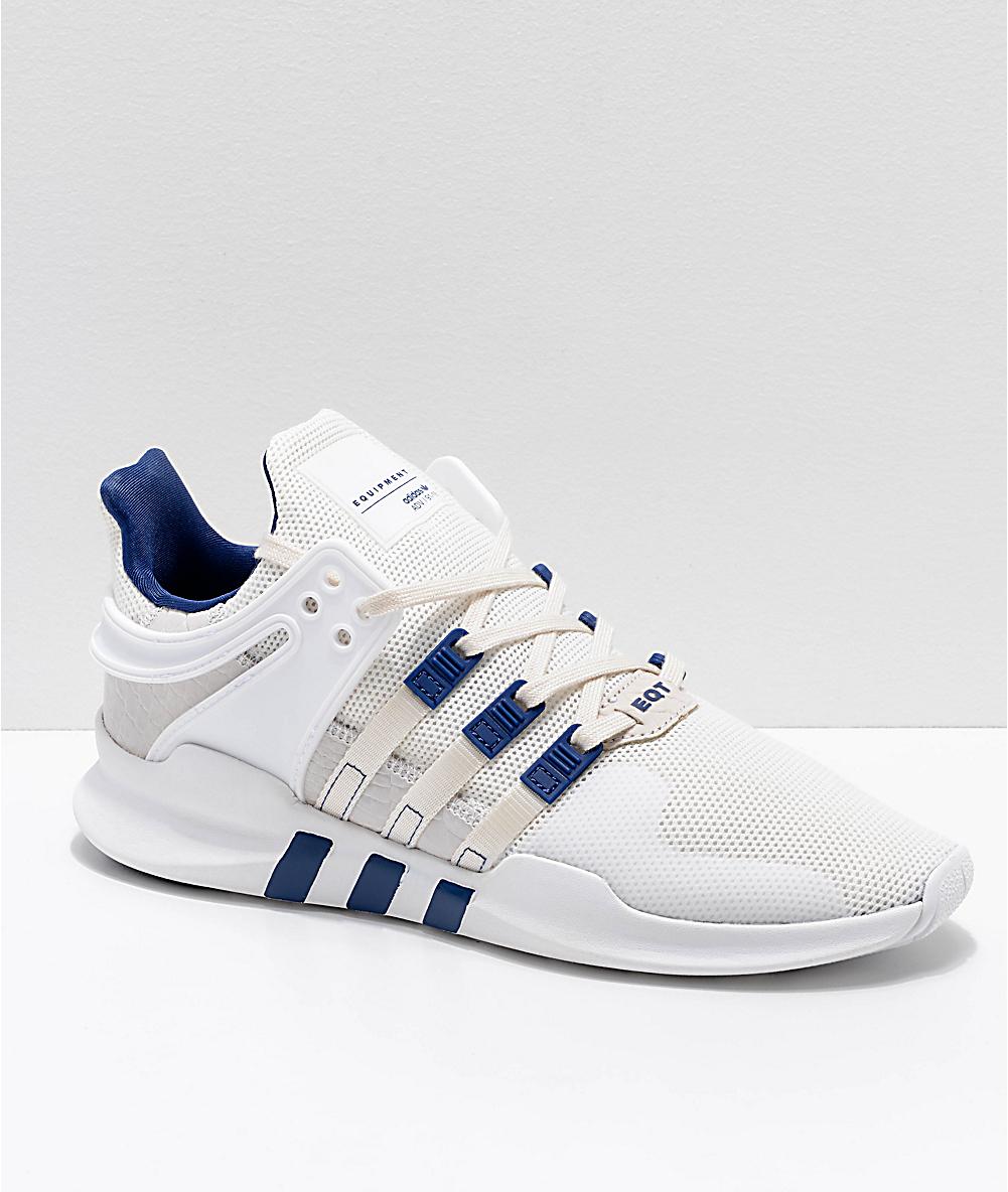 brand new 3711e bd1ab adidas EQT Support ADV Cream & White Shoes