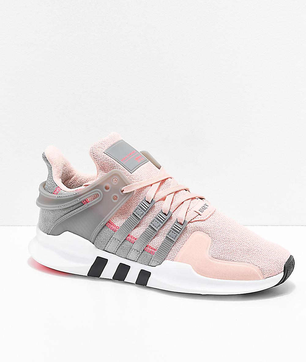 adidas rosa y gris