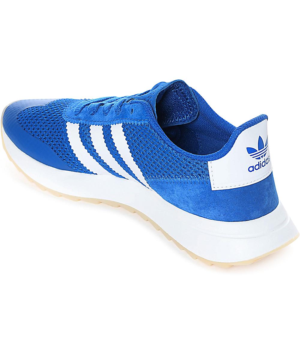 Adidas Flashback Blueamp; Shoes Womens White ybfY76gv