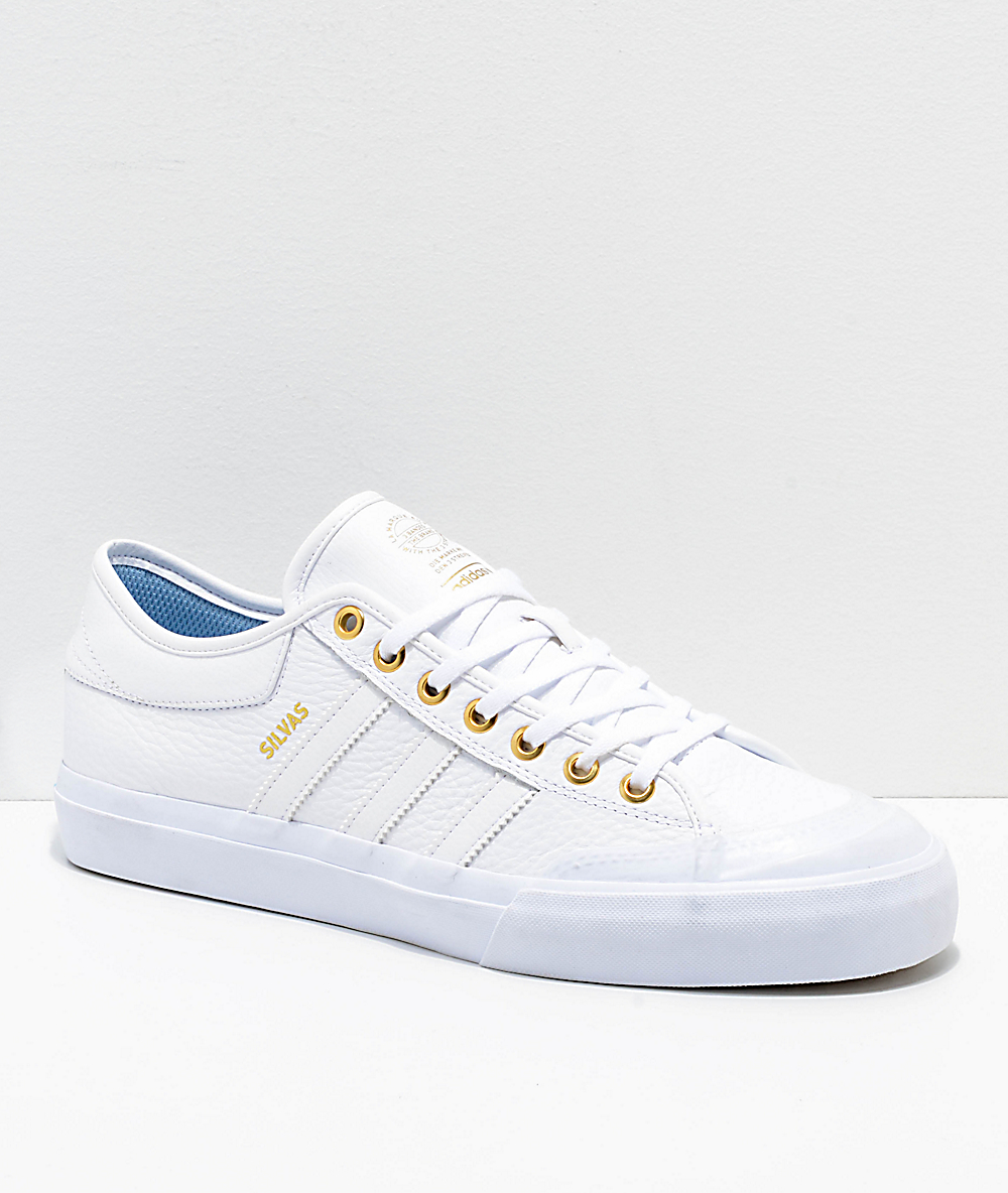 adidas Matchcourt Silvas All White Leather Shoes