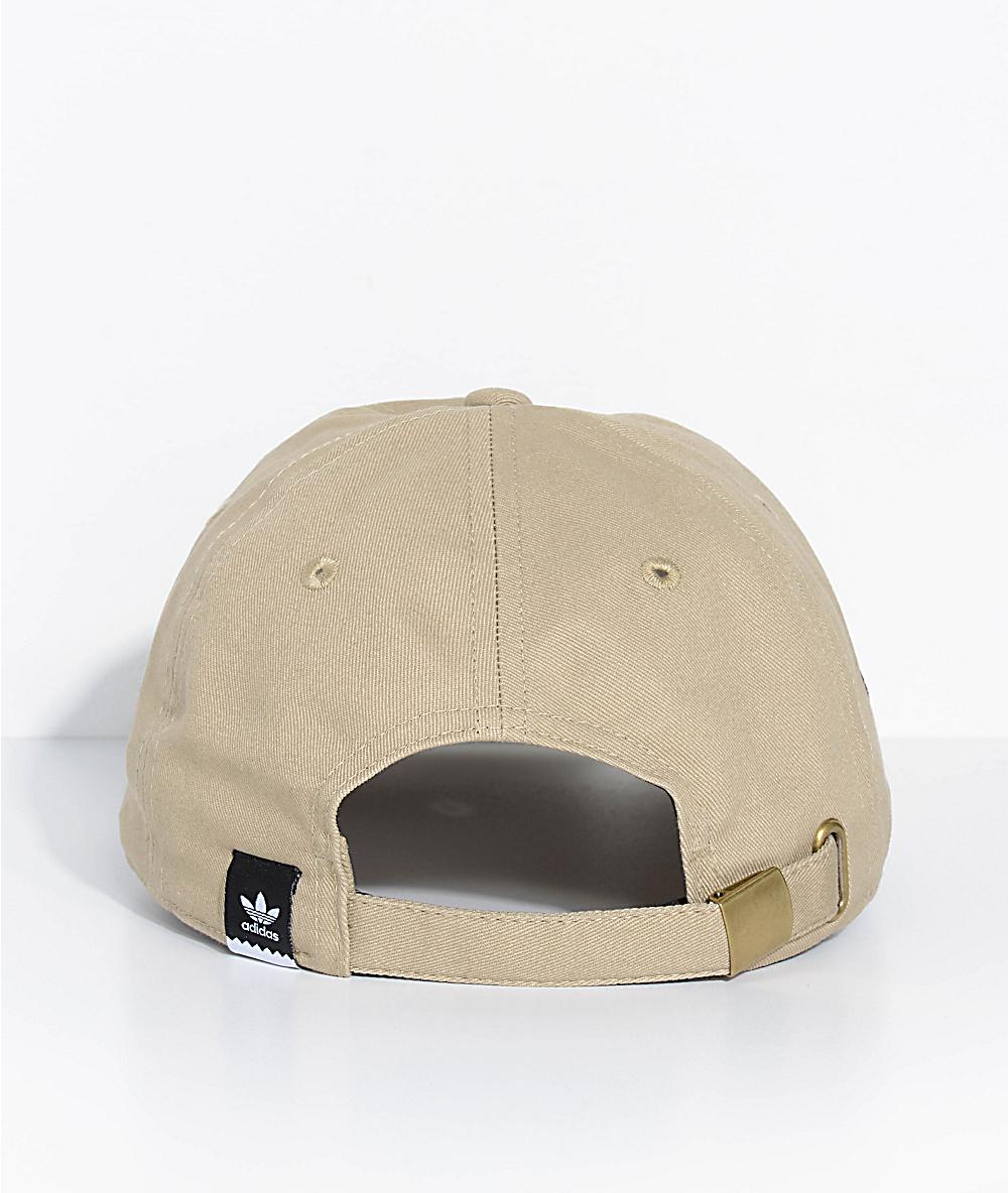 3d149e77 adidas Men's Thanks Khaki Strapback Hat | Zumiez