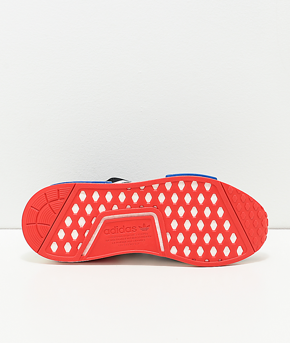 Adidas Nmd R1 Black White Red Blue Shoes Zumiez