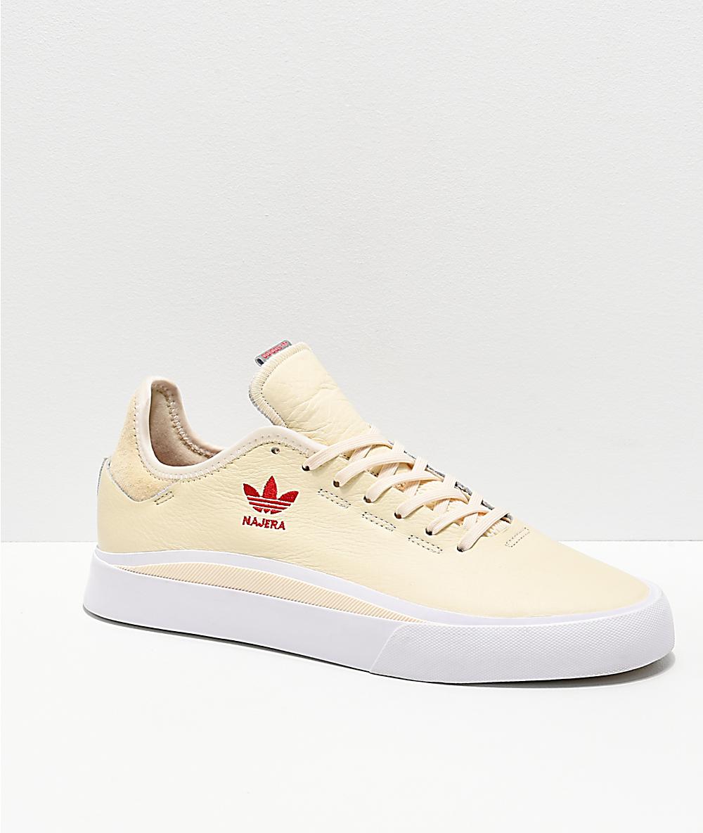 2b22bd6ea0 adidas Najera Sabalo Cream, White & Red Shoes
