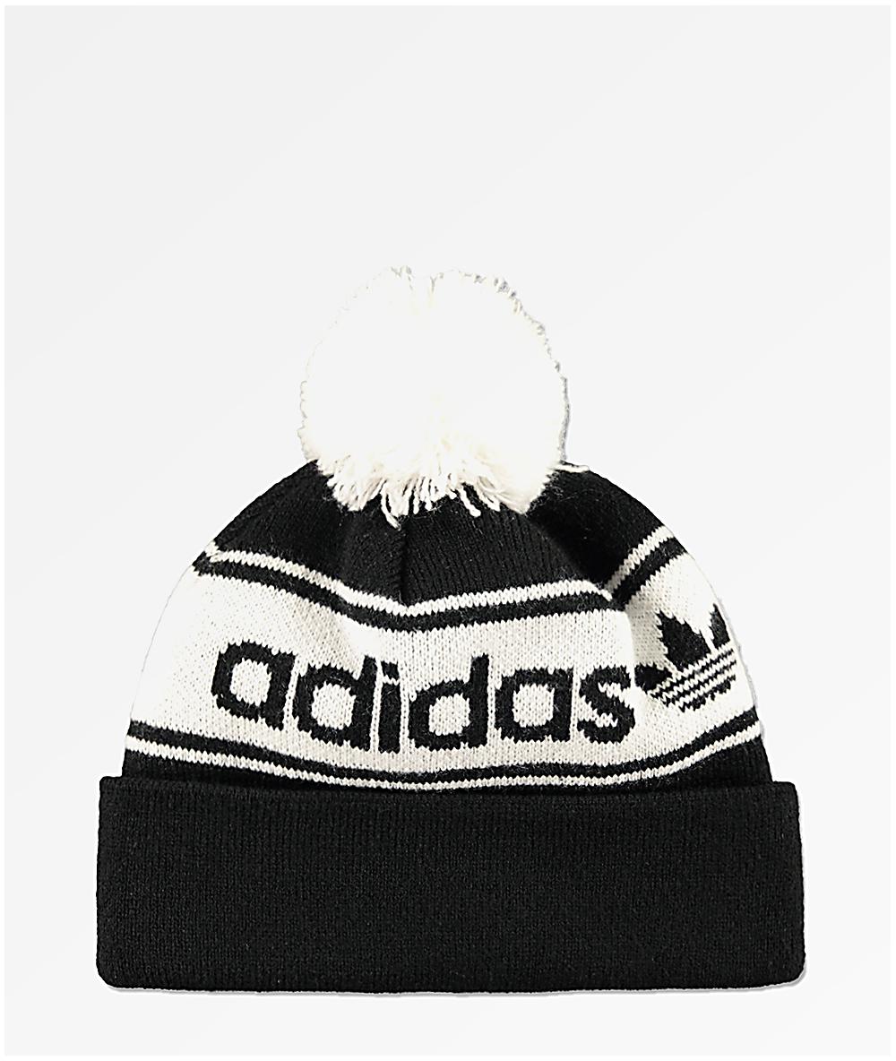 3862c3dda adidas Originals Black & White Pom Beanie