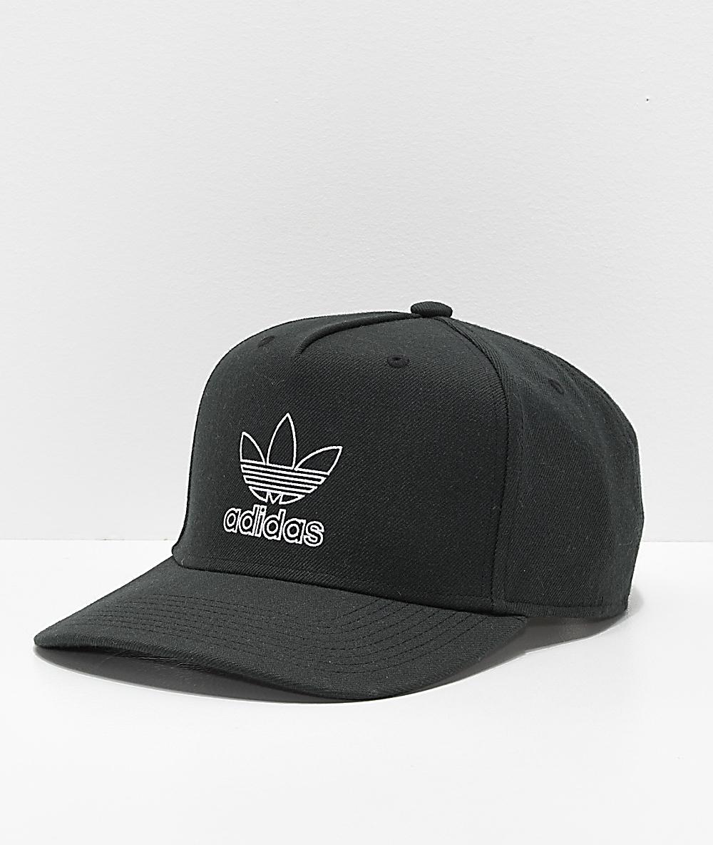 156a60ba adidas Originals Dart Pre-Curve Black Snapback Hat