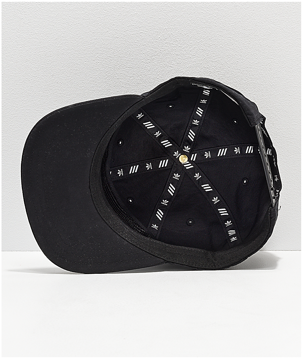 a419de7156 adidas Originals Relaxed Decon II Black Snapback Hat