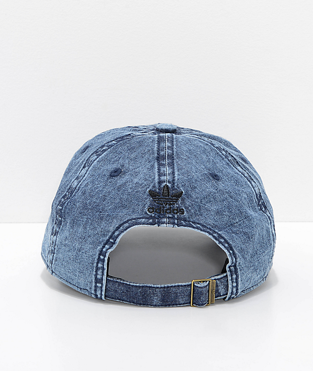 adidas Originals Relaxed Denim & Black Strapback Hat
