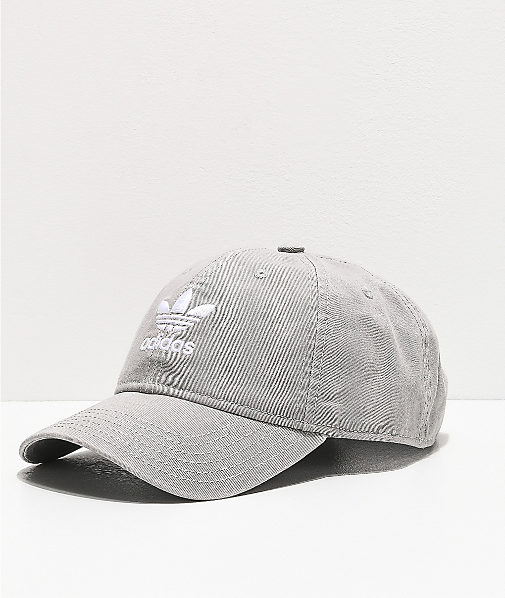 adidas Originals Relaxed Grey Strapback Hat