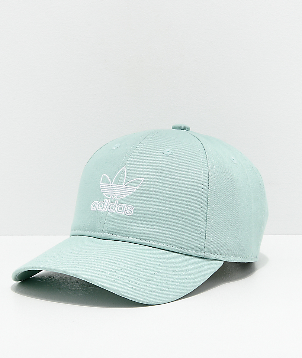 adidas Originals Relaxed Outline gorra verde pastel para mujeres