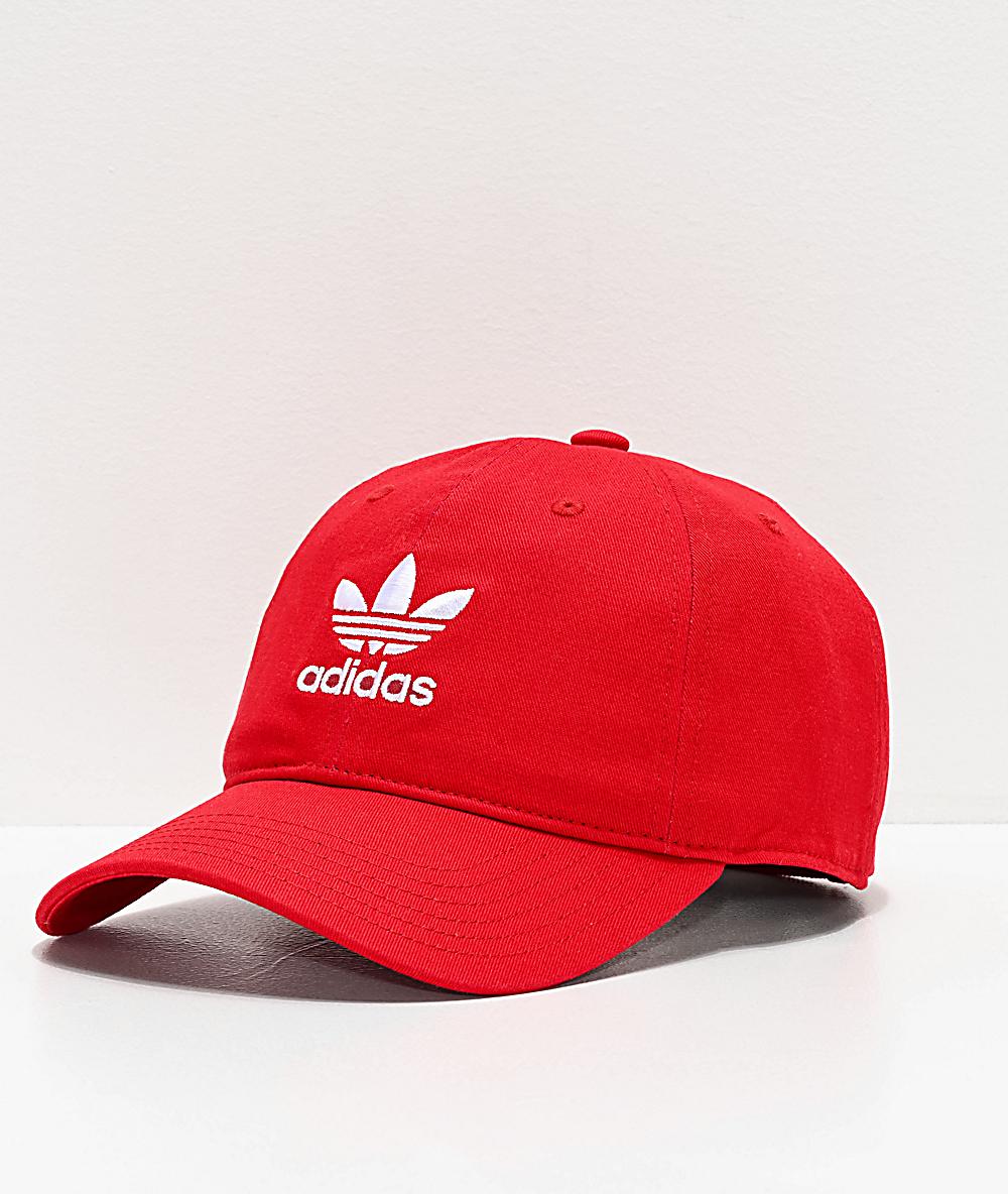 adidas Originals Relaxed gorra roja y blanca para mujeres