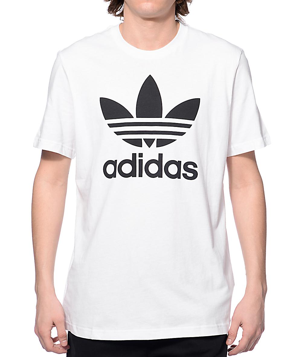 c6eced13 adidas Originals Trefoil White T-Shirt | Zumiez