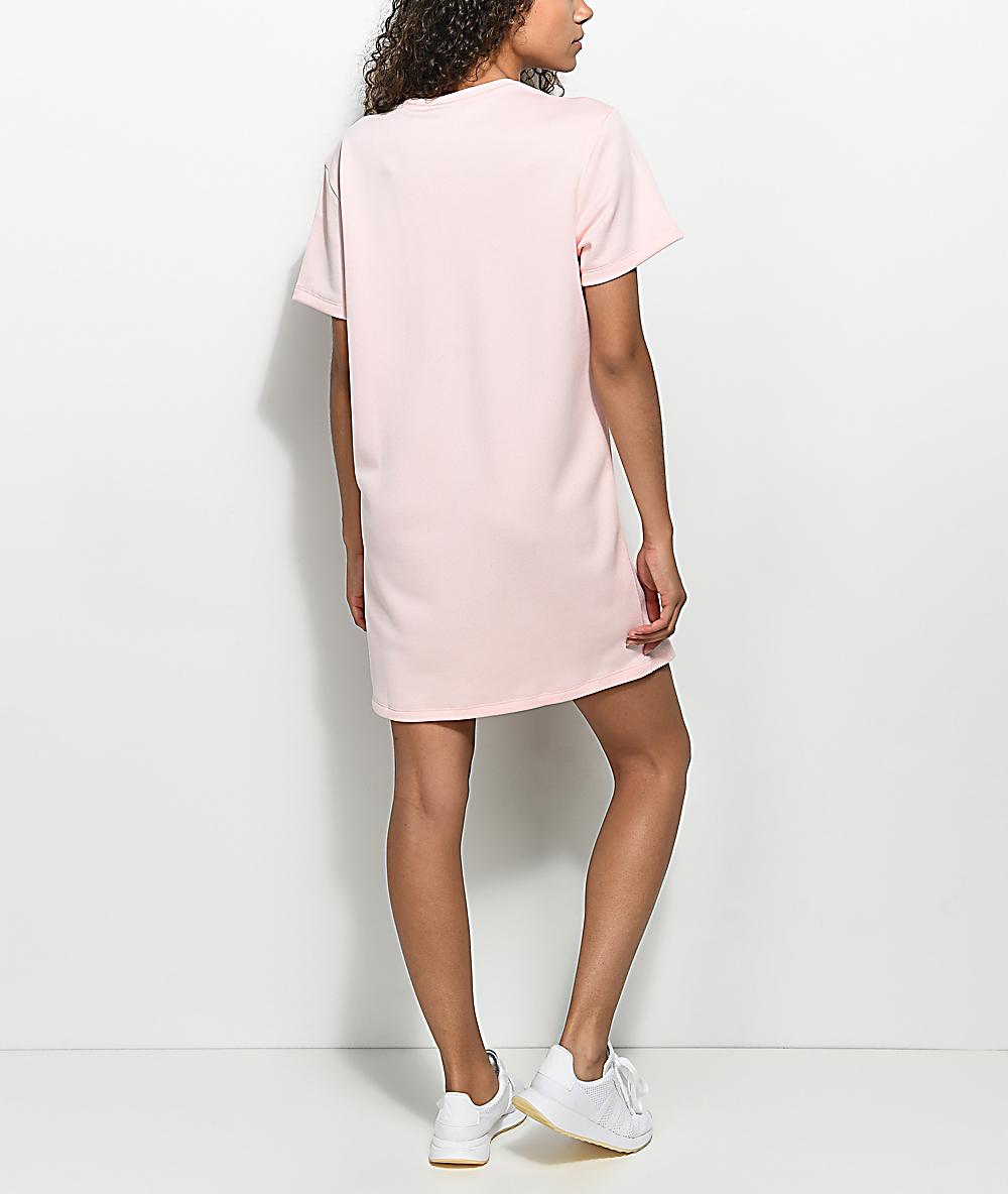 37409fc6 adidas Pale Pink Trefoil Tee Dress | Zumiez