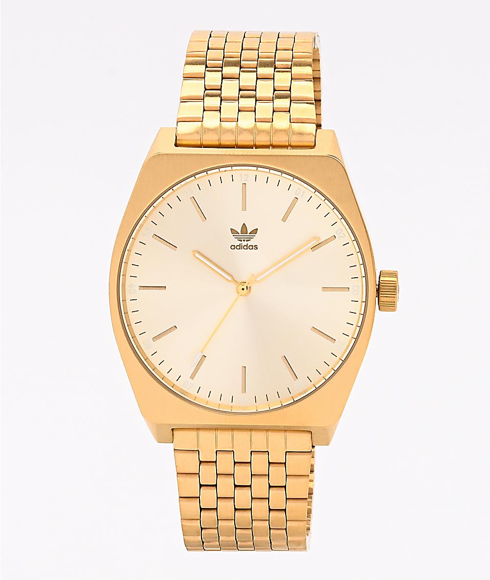 vapor garrapata Sacrificio  adidas Process M1 Gold Watch | Zumiez