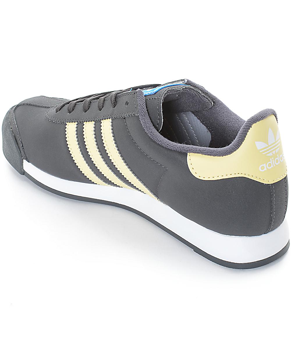 zapatos adidas amarillos gris