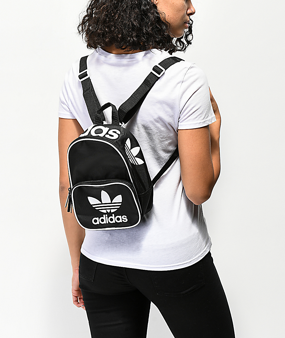 c876a8643 adidas Santiago Black Mini Backpack | Zumiez