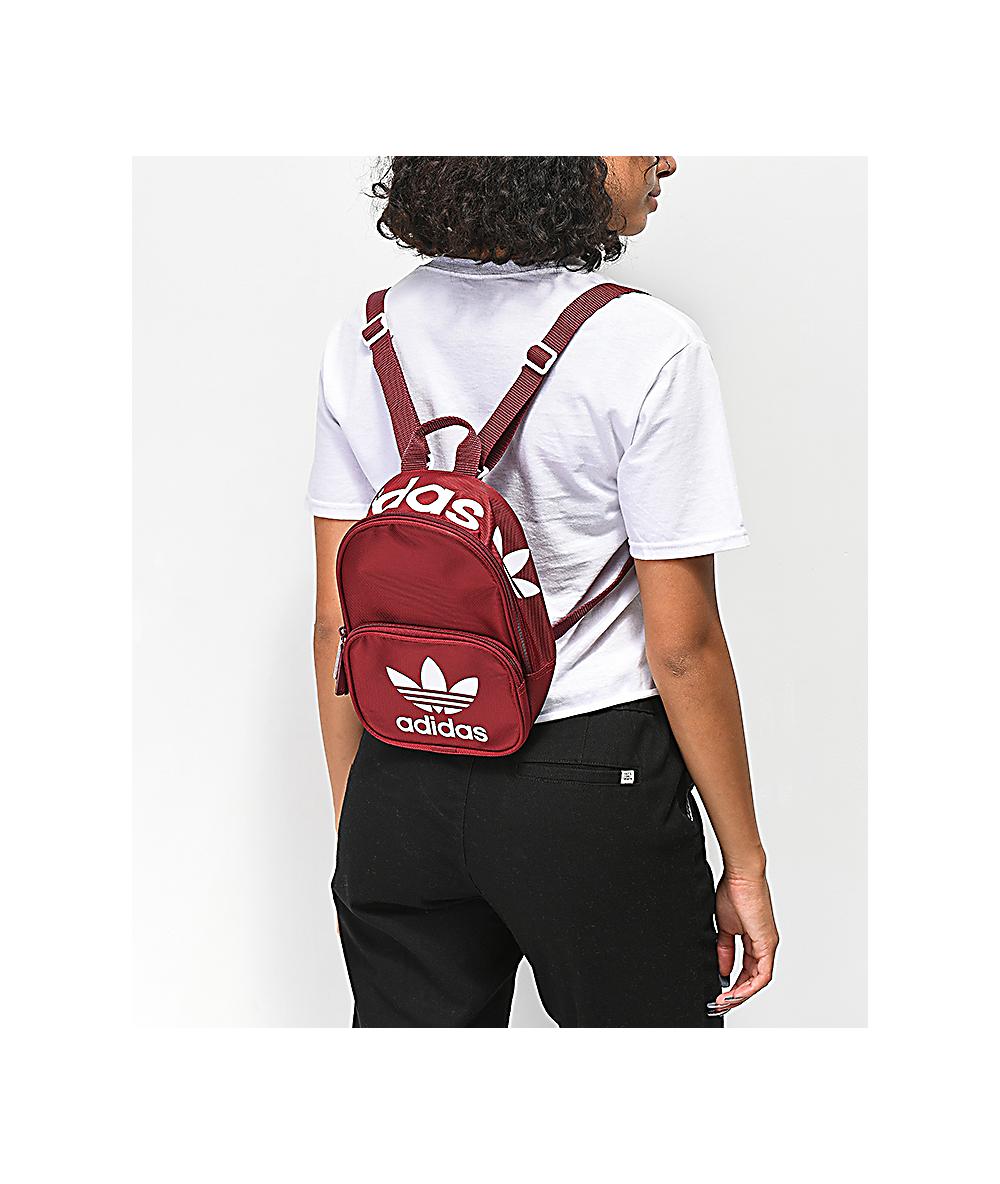 aa5b3ba66 adidas Santiago Collegiate Burgundy Mini Backpack | Zumiez