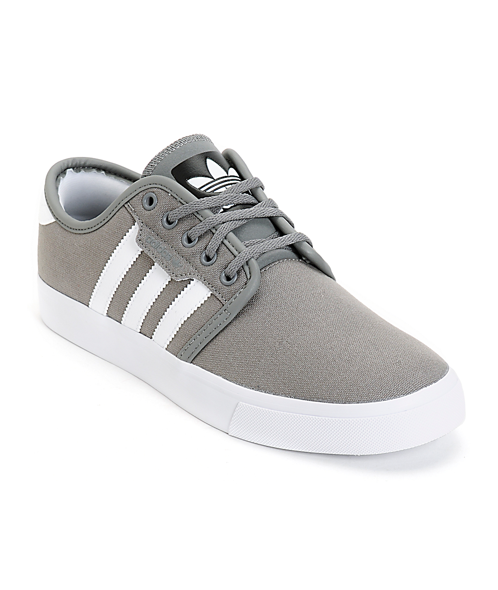 adidas grey canvas shoes cheap online