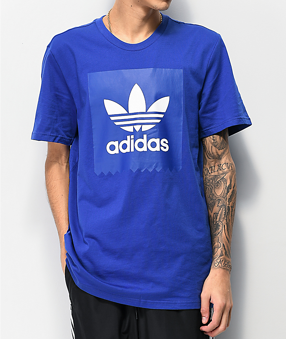 911527edf5 adidas Solid Blackbird Blue T-Shirt