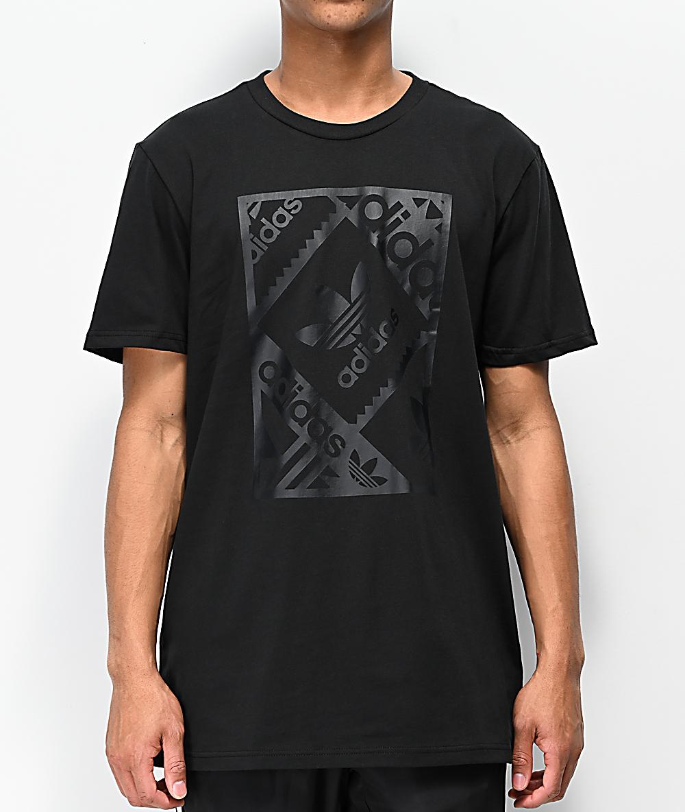 adidas Stamp Black T Shirt