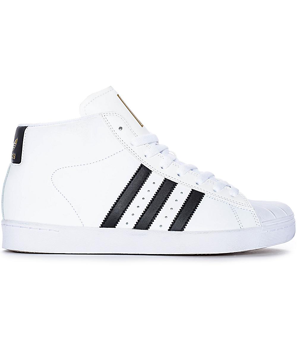 definido Multa jugador  adidas Superstar Vulc Mid White & Black Shoes | Zumiez