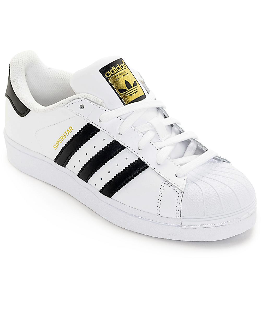 adidas Superstar zapatos en blanco y negro (mujer)