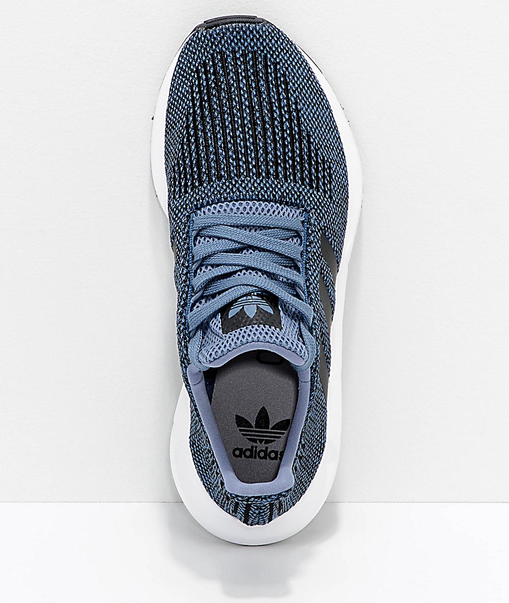 Adidas Kinder Swift Run Raw Speckled Steel & White Schuhe