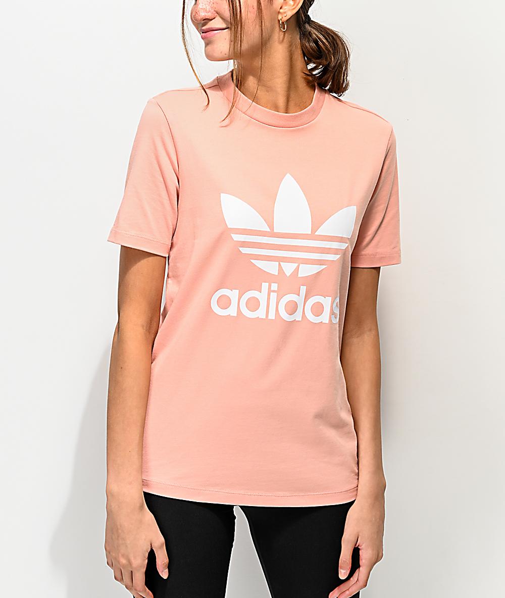 d76f14f6c9 adidas Trefoil Dust Pink T-Shirt