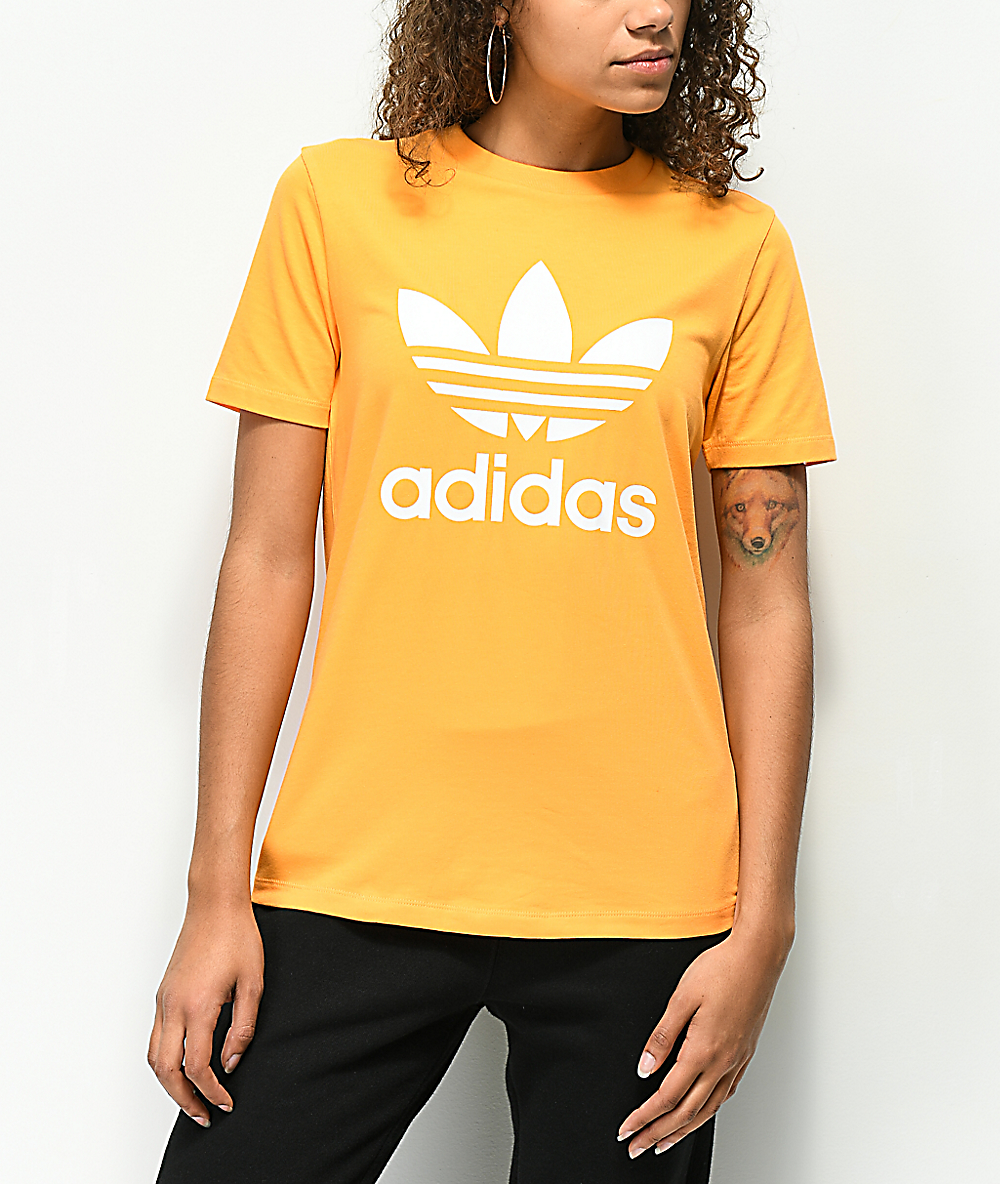 adidas Trefoil Real Gold T Shirt