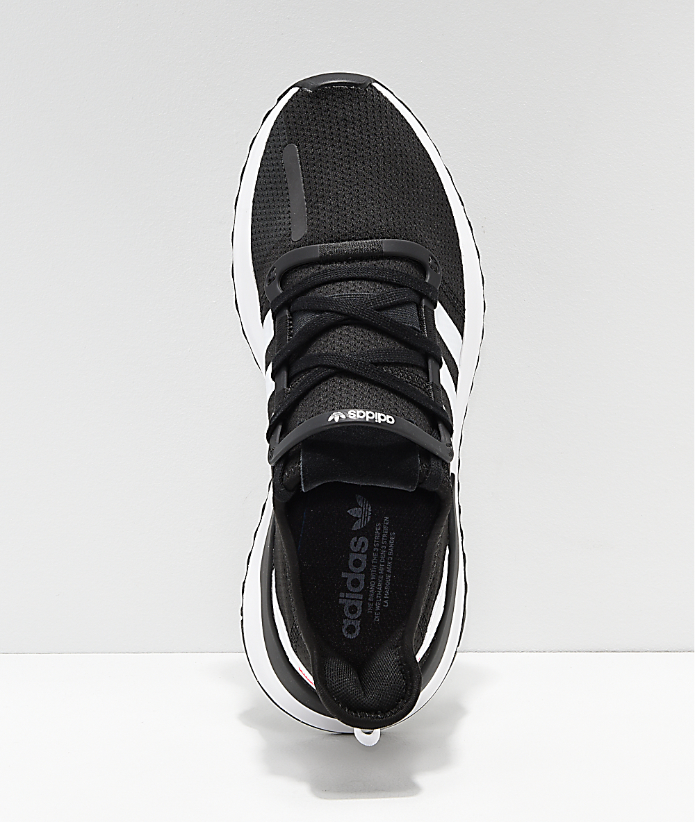 nouveau style 5ea2e dd98d adidas U Path Run Black, White & Pink Shoes