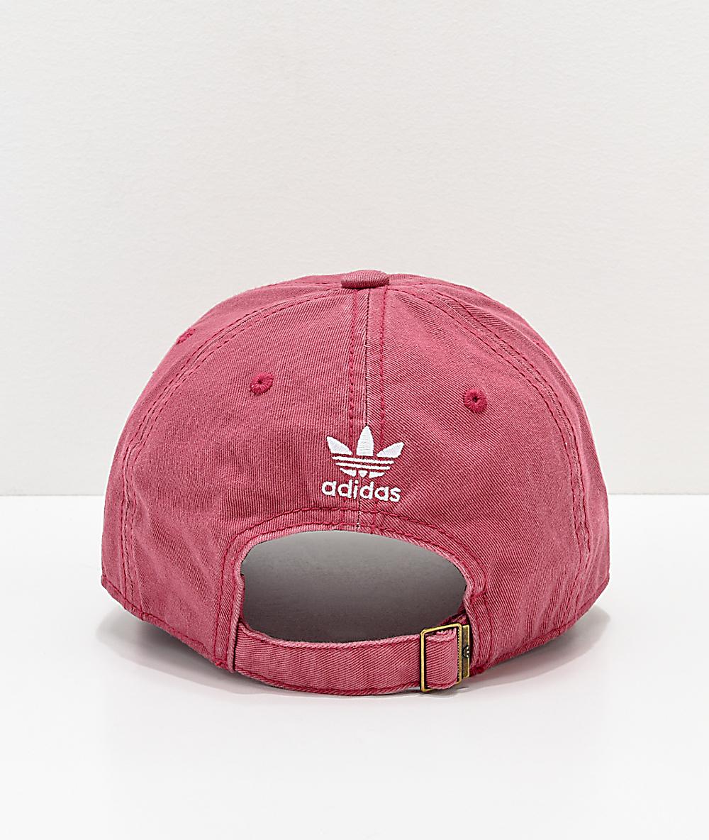 6afd05051 adidas Women's Original Maroon & White Strapback Hat | Zumiez