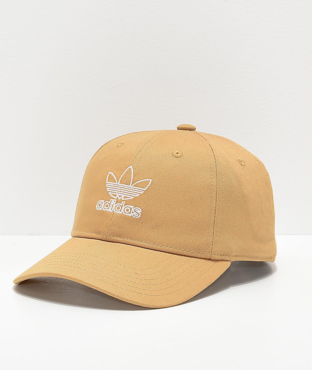 4734506f adidas Women's Relaxed Outline Logo Gold Strapback Hat | Zumiez