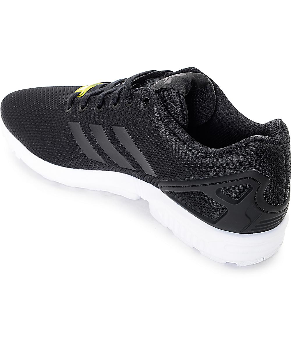sale retailer 12c7b a6463 adidas ZX Flux Black & White Shoes