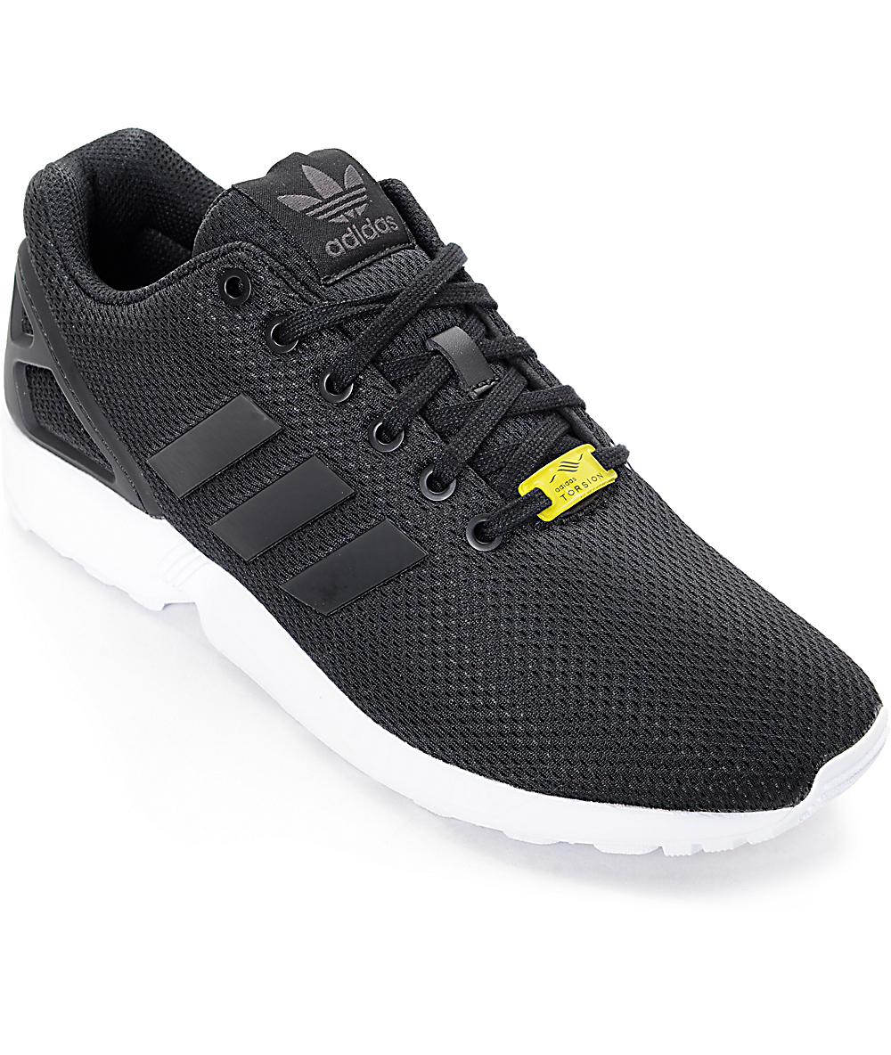 sale retailer 37e70 49246 adidas ZX Flux Black & White Shoes