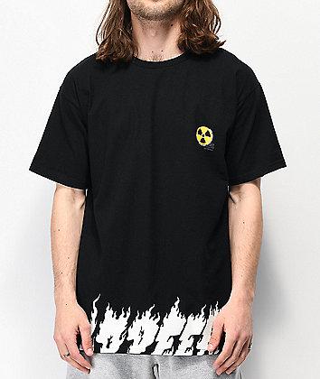 10 Deep Radiated Black T-Shirt
