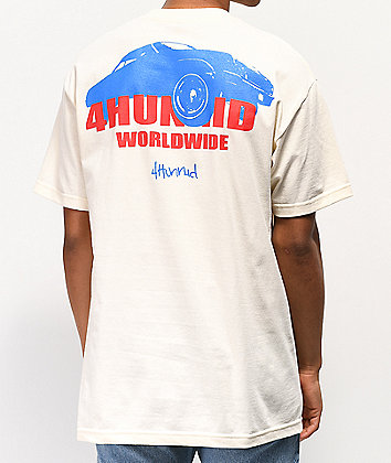 4Hunnid Worldwide Cream T-Shirt