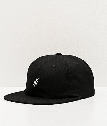 5Boro NY Monogram Black Strapback Hat