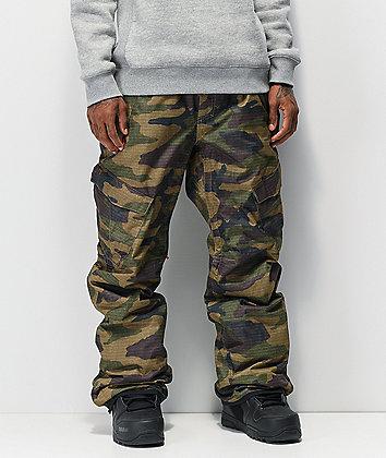 686 Infinity Insulated Cargo Camo 10K Snowboard Pants