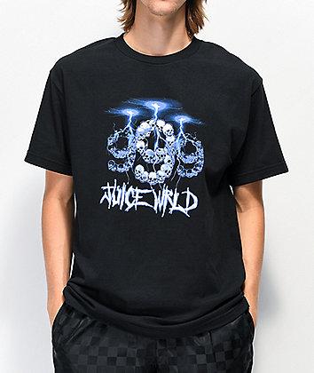 999 Club by Juice WRLD Lightning Black T-Shirt