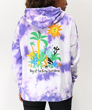 A-Lab Freela Sun Lavender Tie Dye Hoodie