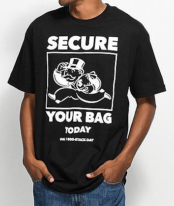 A-Lab Secure Your Bag Black T-Shirt