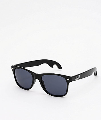 A Lost Cause 6PK Bottle Opener Black & Smoke Sunglasses