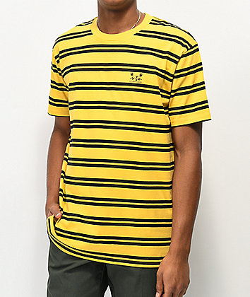 A Lost Cause Pay Later Gold & Black Stripe T-Shirt