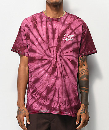 A Lost Cause Thrash Red Tie Dye T-Shirt