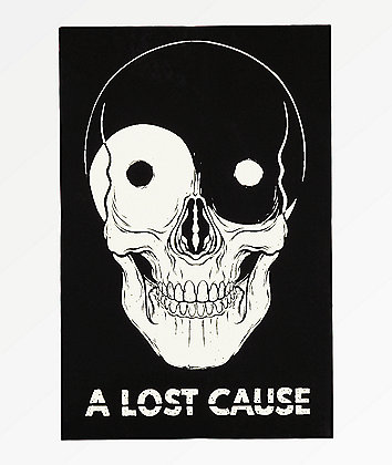 A Lost Cause Yin Yang Skull Sticker