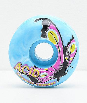 Acid Shroom Swirls Green 53mm 99a Skateboard Wheels
