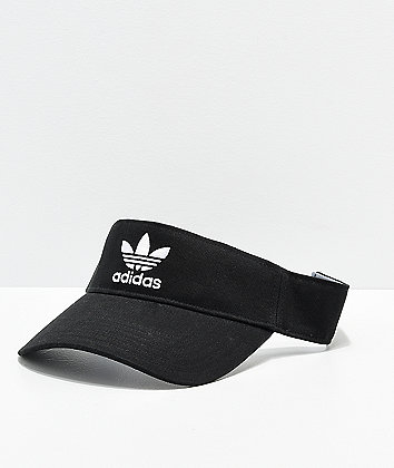 Adidas Trefoil visera de sarga negra