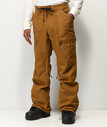 Airblaster Freedom Grizzly Cargo Khaki 10K Snowboard Pants