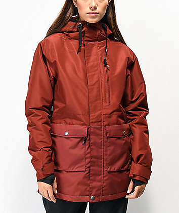 Airblaster Stay Wild Parka Oxblood Red 10K Snowboard Jacket
