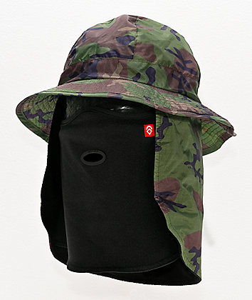 Airhole Camo Bucket Hat Balaclava