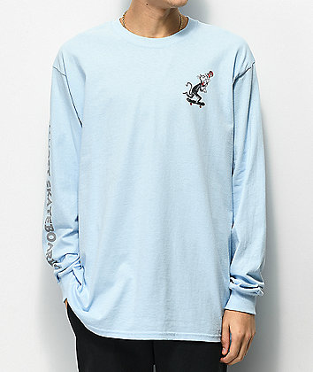 Almost x Dr. Seuss Cat Pusher Light Blue Long Sleeve T-Shirt